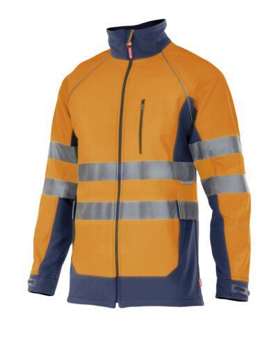 Velilla 306001 Cazadora Soft Shell Bicolor Naranja Marino