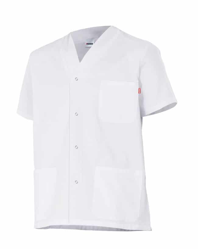 Velilla 535201 Camisola Pijama Con Automaticos Manga Corta Blanco