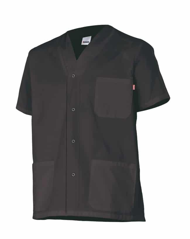 Velilla 535201 Camisola Pijama Con Automaticos Manga Corta Negro
