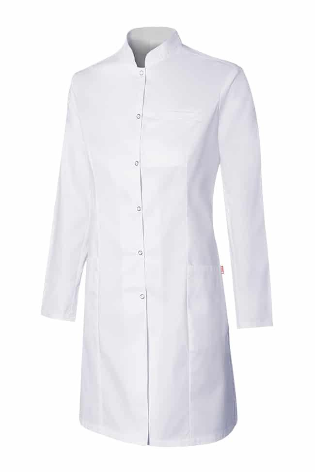 Velilla 539007s Bata Stretch Cuello Mao Mujer Blanco