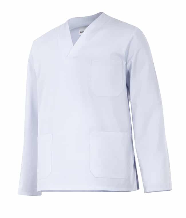 Velilla 588 Camisola Pijama Manga Larga Blanco