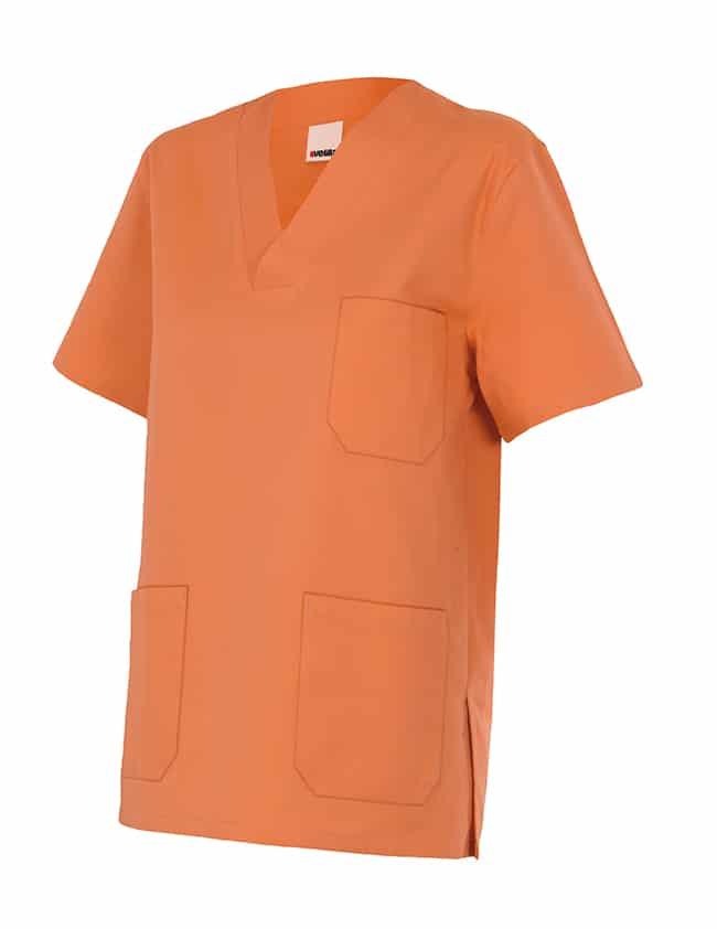 Velilla 589 Camisola Pijama Manga Corta Naranja Claro