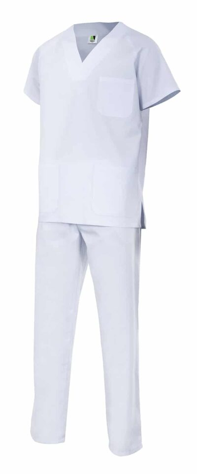 Velilla 800 Conjunto Pijama Basic Blanco