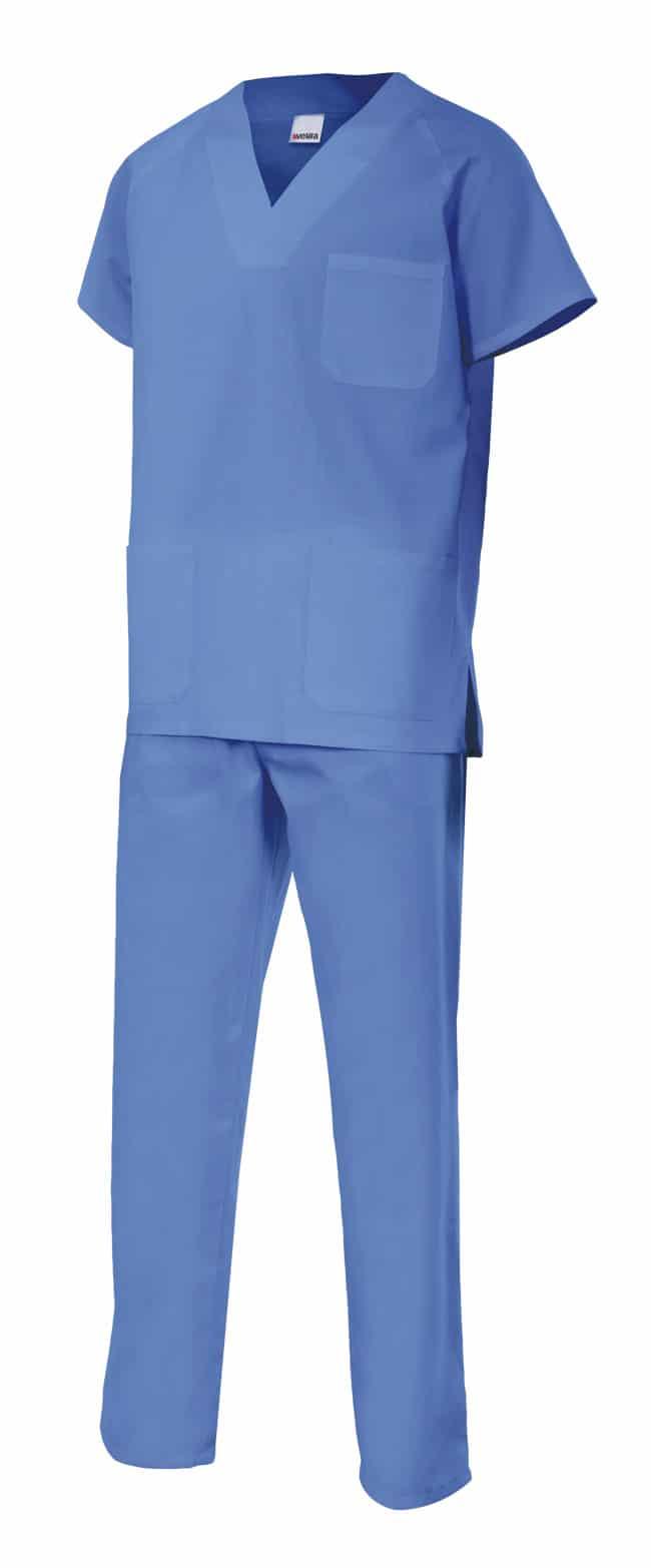 Velilla 800 Conjunto Pijama Basic Celeste