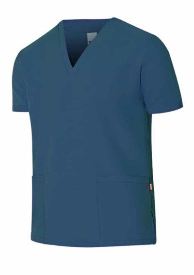 Velilla Camisola Pijama Microfibra Manga Corta Azul Oceano