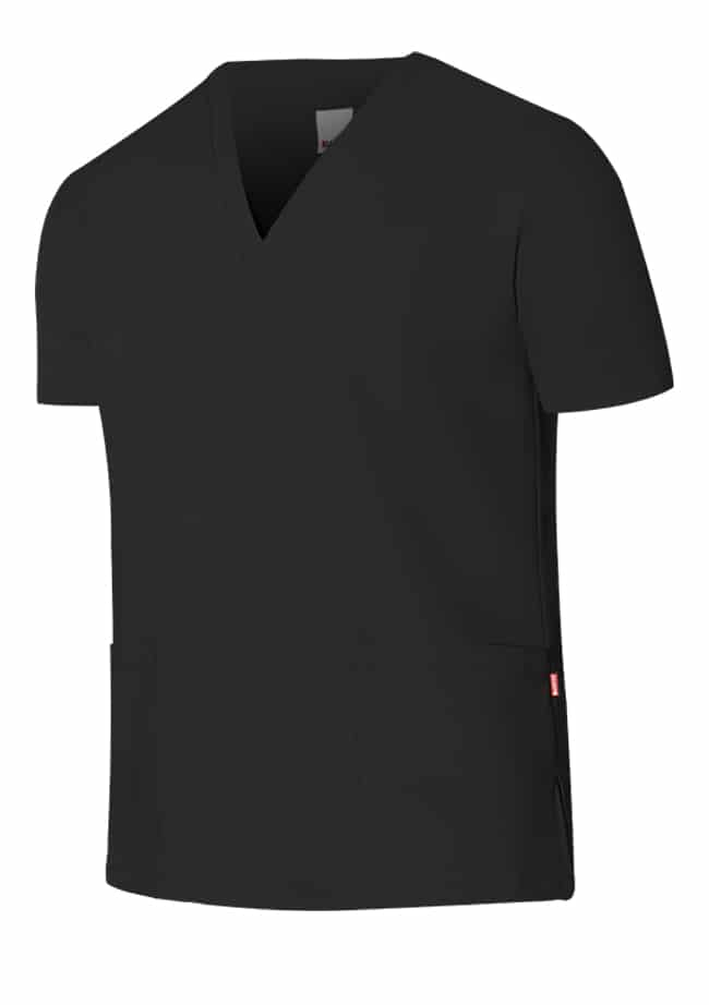 Velilla Camisola Pijama Microfibra Manga Corta Negro