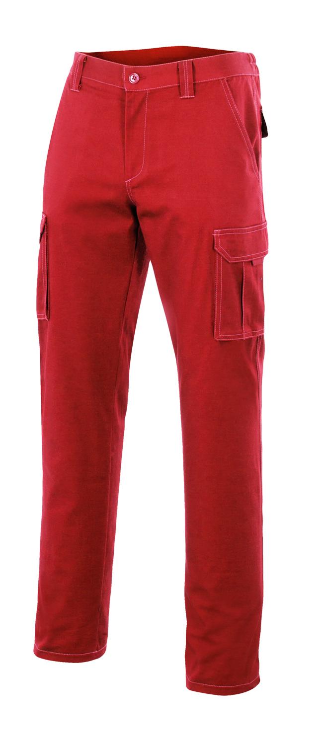 Velilla 103001 PantalÓn Multibolsillos Rojo