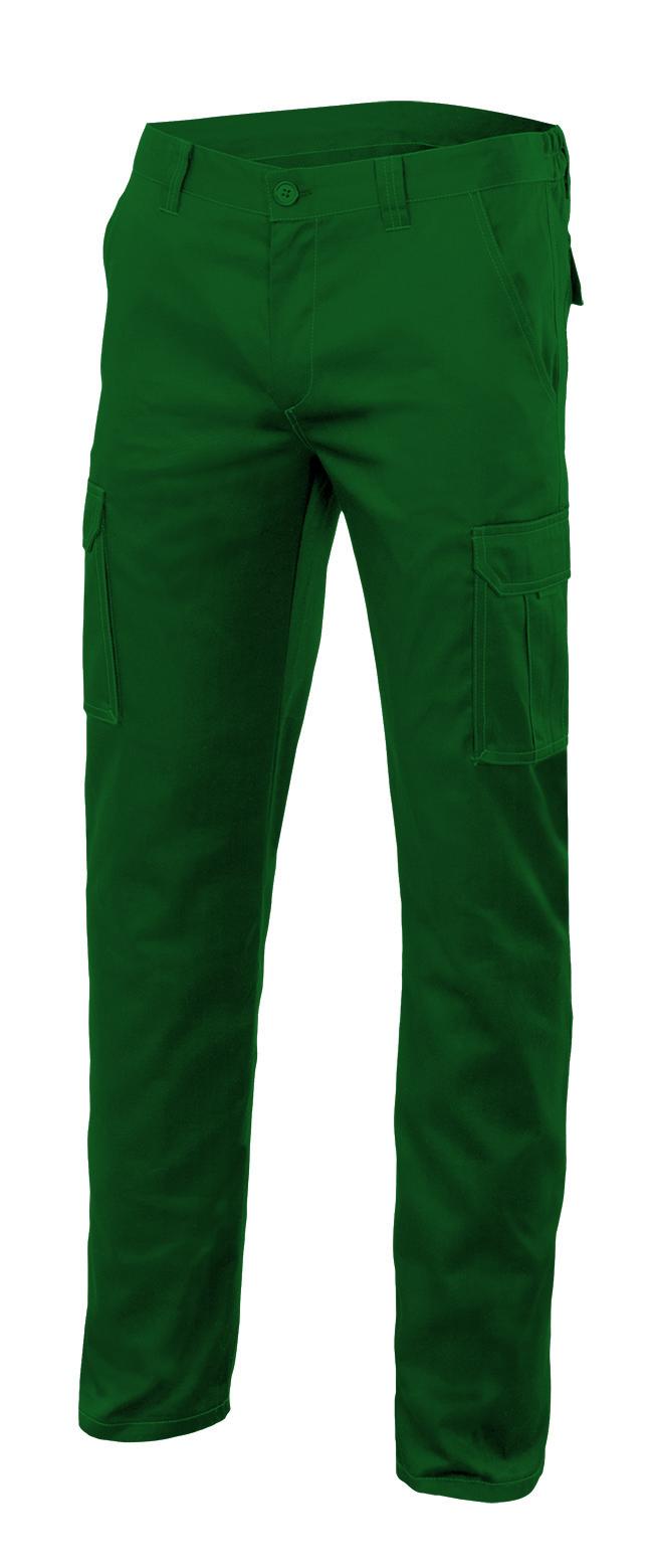 Velilla 103002s PantalÓn Stretch Multibolsillos Verde