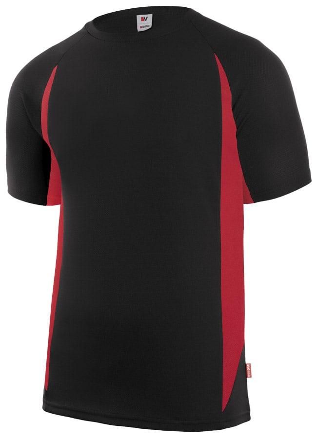 Velilla 105501 Camiseta TÉcnica Bicolor Negro Rojo