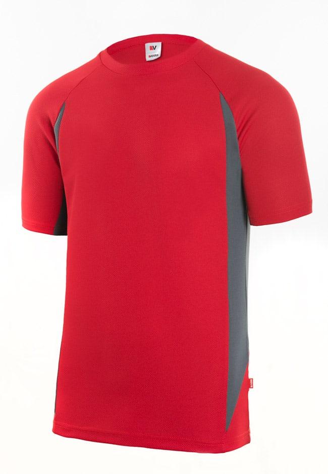 Velilla 105501 Camiseta TÉcnica Bicolor Rojo Gris