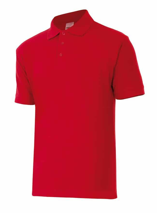 Velilla 105502 Polo Manga Corta Rojo