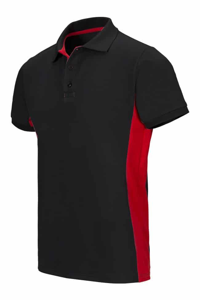 Velilla 105504 Polo Bicolor Manga Corta Negro Rojo