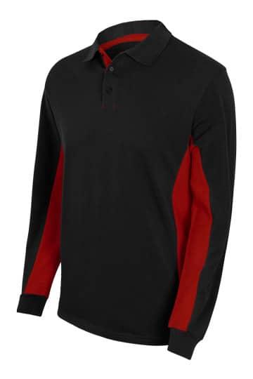 Velilla 105514 Polo Bicolor Manga Larga Negro Rojo