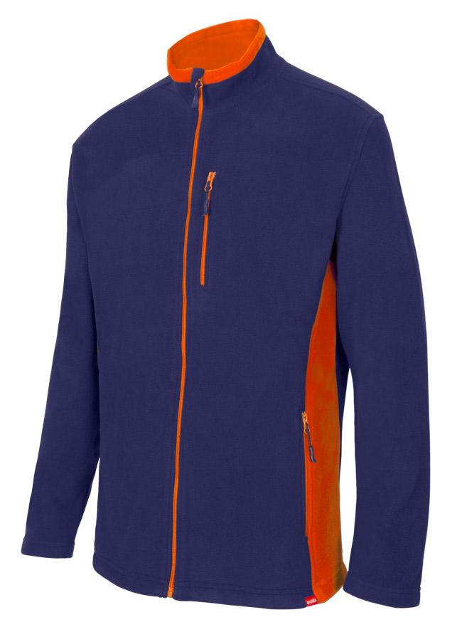Velilla 201504 Chaqueta Polar Bicolor Azul Marino Naranja