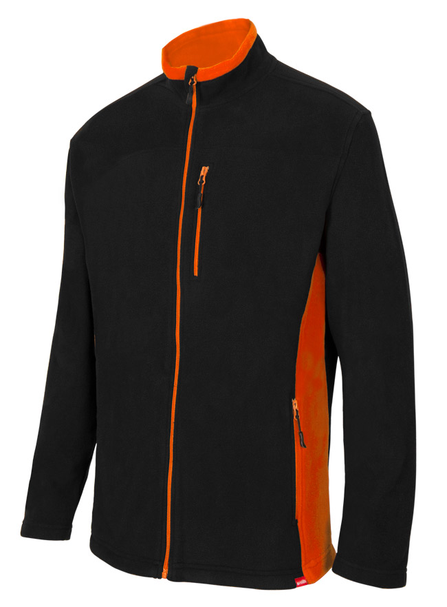 Velilla 201504 Chaqueta Polar Bicolor Negro Naranja