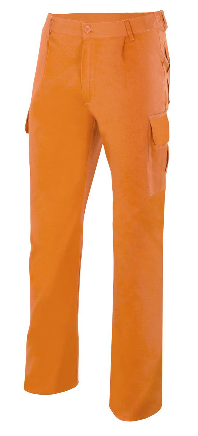 Velilla 345 PantalÓn Multibolsillos Naranja