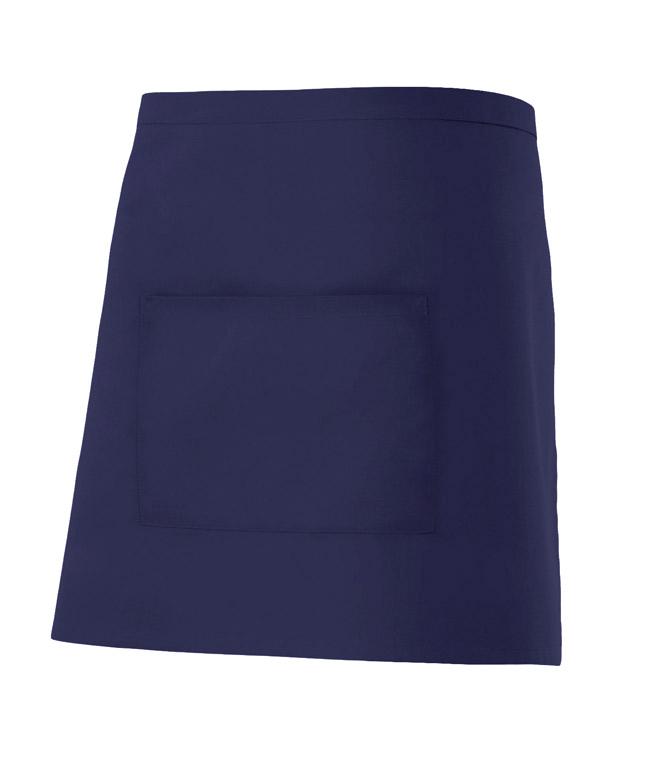 Velilla 404201 Delantal Corto Con Bolsillo Azul Marino