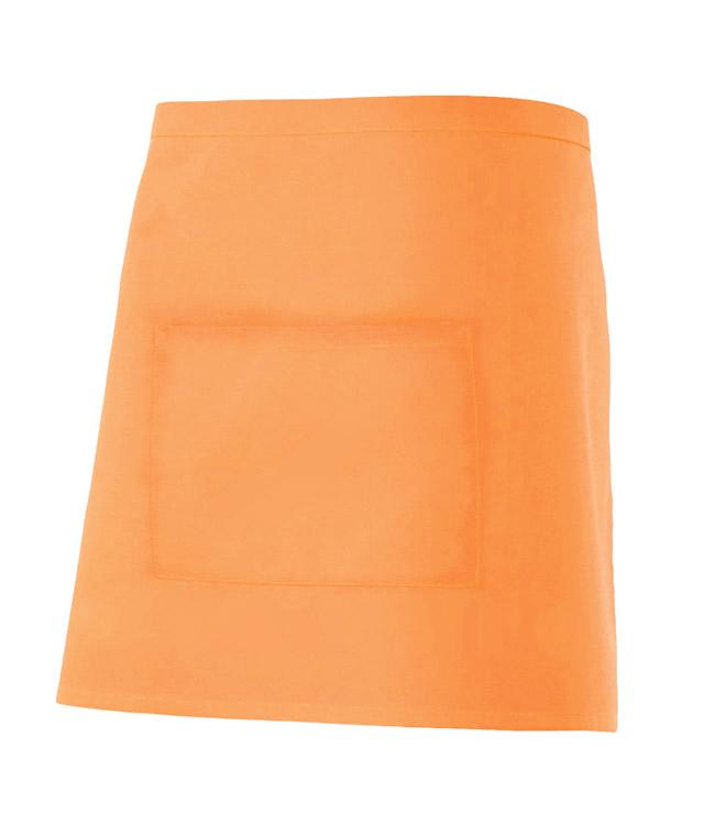 Velilla 404201 Delantal Corto Con Bolsillo Naranja Claro