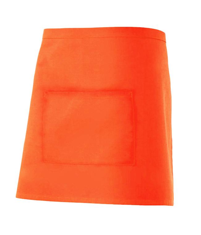 Velilla 404201 Delantal Corto Con Bolsillo Naranja FlÚor