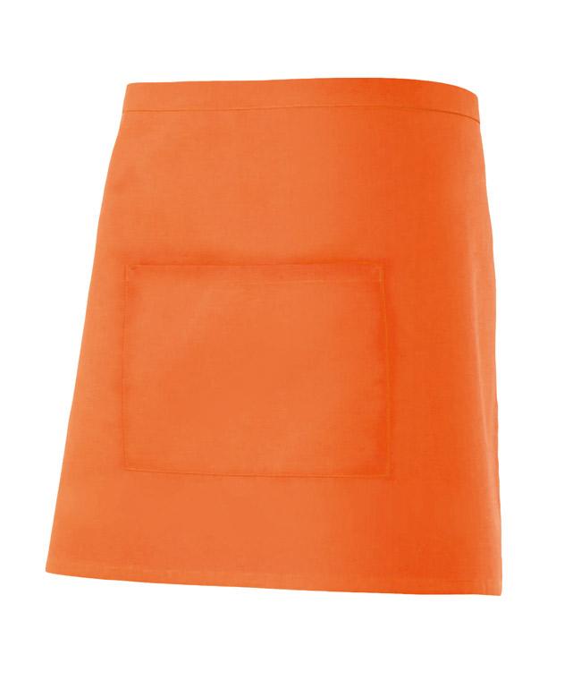 Velilla 404201 Delantal Corto Con Bolsillo Naranja
