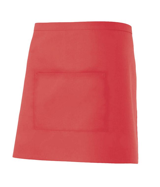 Velilla 404201 Delantal Corto Con Bolsillo Rojo Coral