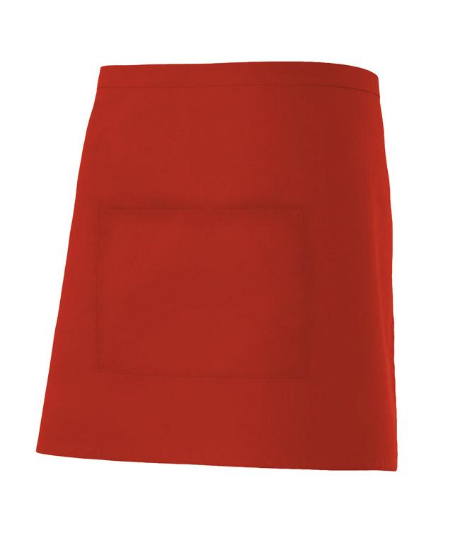 Velilla 404201 Delantal Corto Con Bolsillo Rojo
