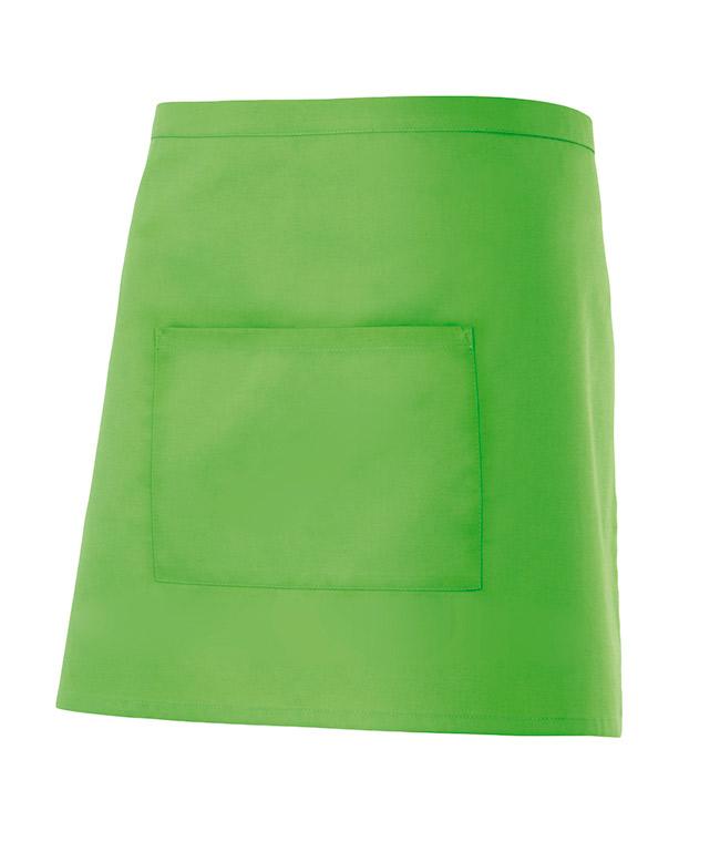 Velilla 404201 Delantal Corto Con Bolsillo Verde Lima