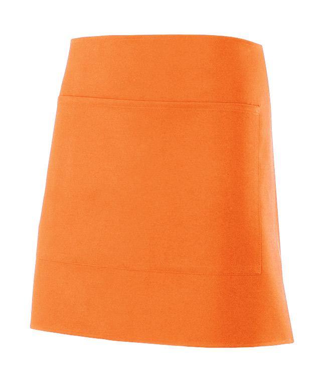 Velilla 404205 Delantal Corto Con Bolsillo Naranja