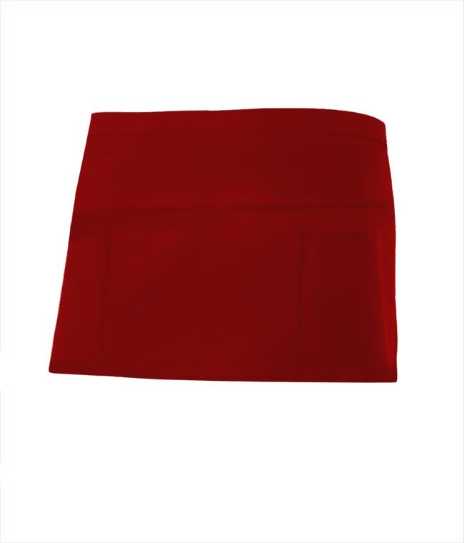 Velilla 404208 Delantal Corto Comandero Rojo