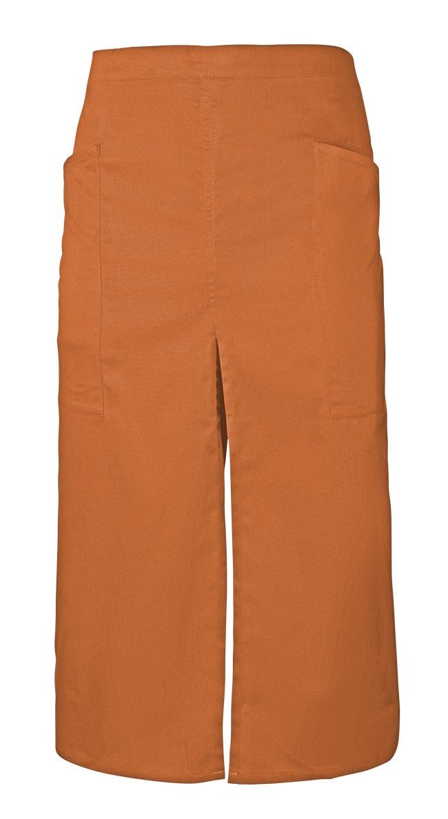 Velilla 404209 Delantal Largo Con Abertura Y Bolsillos Naranja