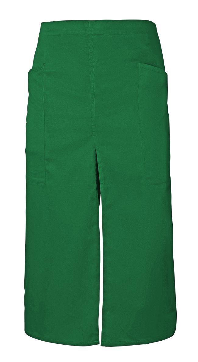 Velilla 404209 Delantal Largo Con Abertura Y Bolsillos Verde