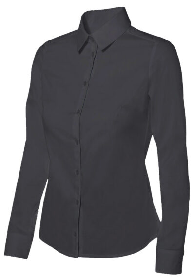 Velilla 405002 Camisa Stretch Mujer Negro
