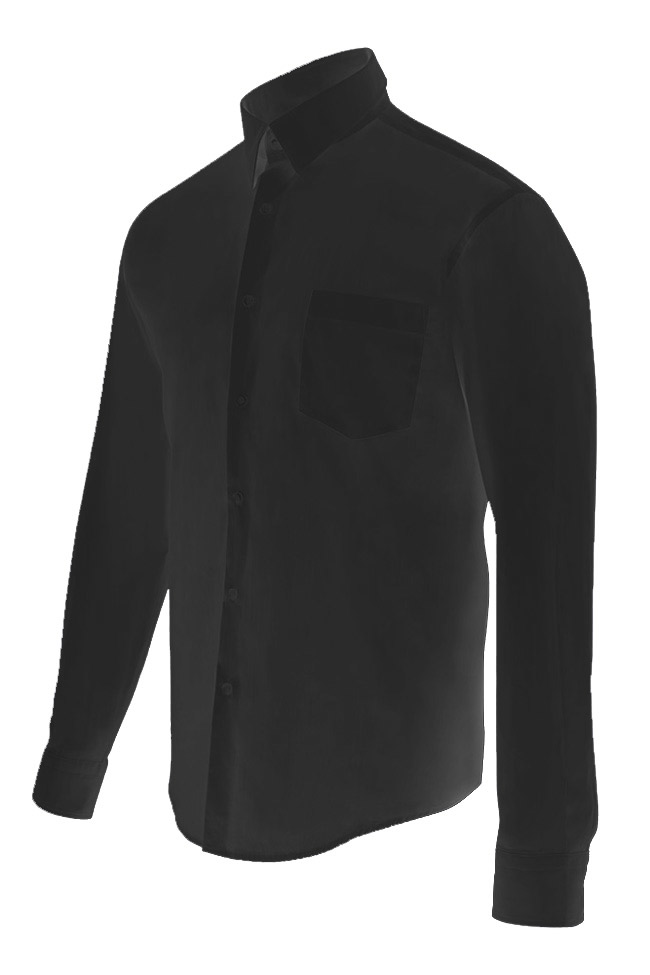 Velilla 405003 Camisa Stretch Hombre Negro