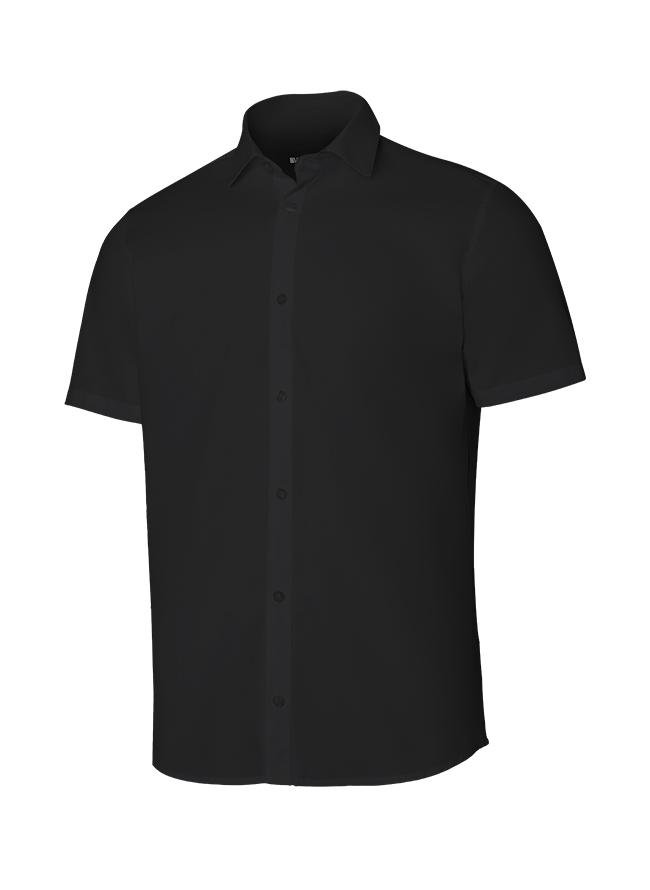 Velilla 405008 Camisa Manga Corta Hombre Negro