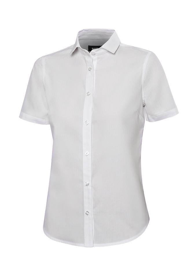 Velilla 405010 Camisa Manga Corta Mujer Blanco