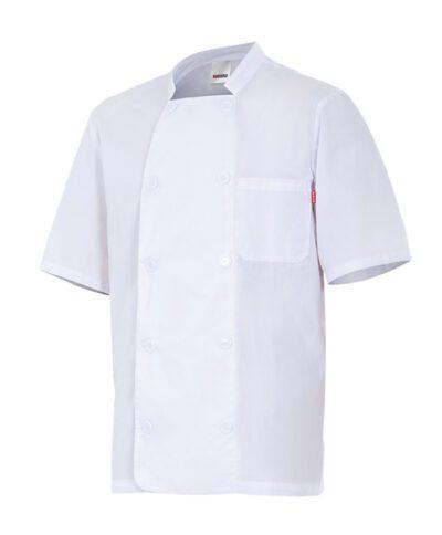 Velilla 405201 Chaqueta De Cocina Manga Corta Blanco