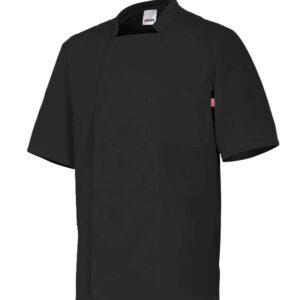 Velilla 405201 Chaqueta De Cocina Manga Corta Negro