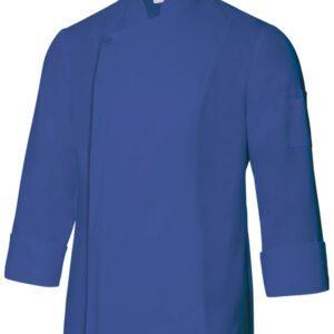 Velilla 405202tc Chaqueta De Cocina Con Cremallera Azul Ultramar