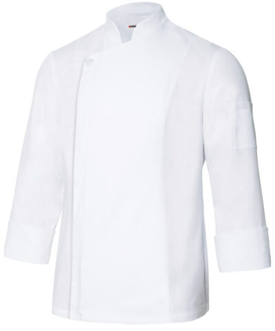 Velilla 405202tc Chaqueta De Cocina Con Cremallera Blanco