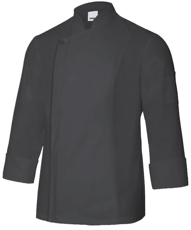 Velilla 405202tc Chaqueta De Cocina Con Cremallera Negro
