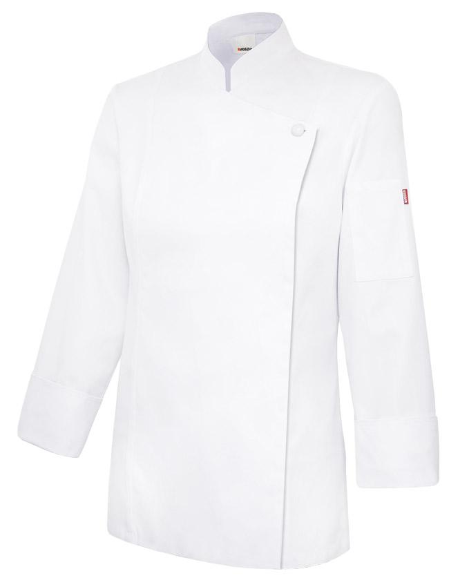Velilla 405203tc Chaqueta De Cocina Mujer Con Cremallera Blanco