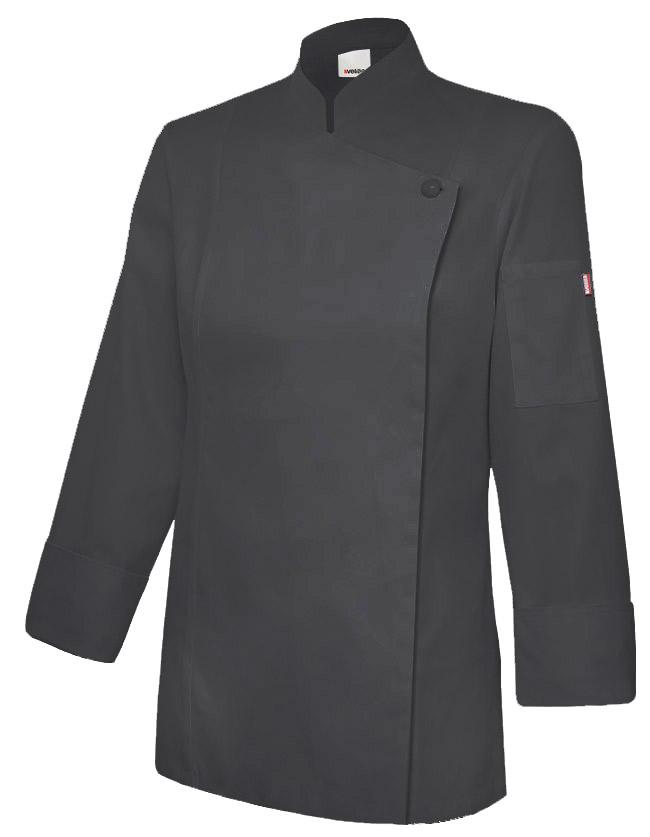 Velilla 405203tc Chaqueta De Cocina Mujer Con Cremallera Negro
