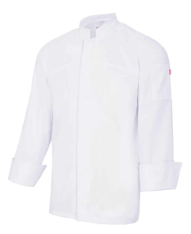 Velilla 405208 Chaqueta De Cocina Con Cierre Central Blanca