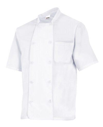 Velilla 432 Chaqueta De Cocina Manga Corta Blanco