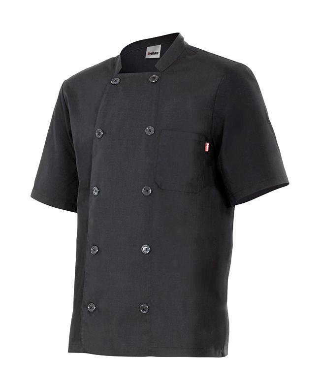 Velilla 432 Chaqueta De Cocina Manga Corta Negro