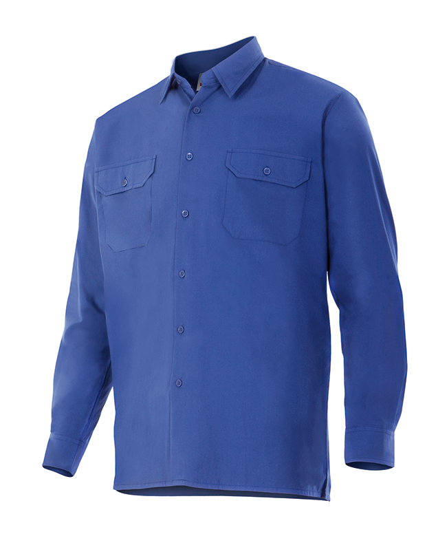 Velilla 520 Camisa Manga Larga Azulina