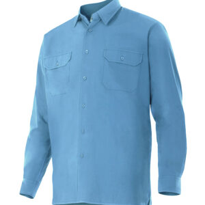 Velilla 520 Camisa Manga Larga Celeste