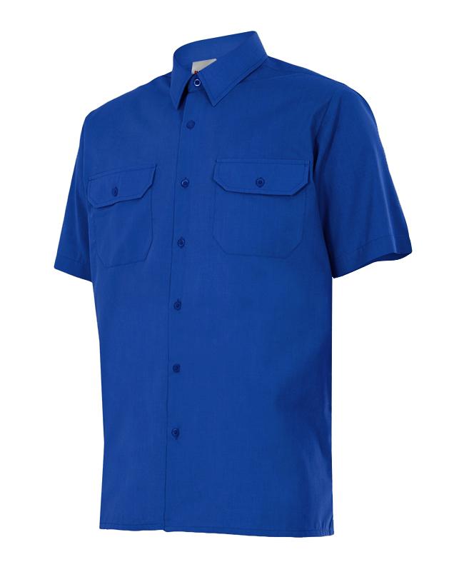 Velilla 522 Camisa Manga Corta Azulina