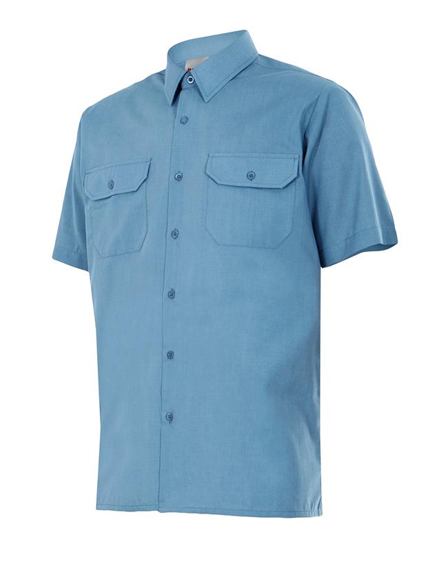 Velilla 522 Camisa Manga Corta Celeste