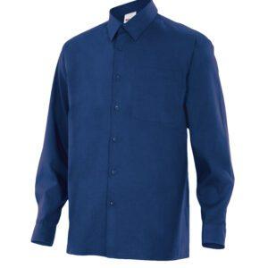 Velilla 529 Camisa Manga Larga Azul Marino